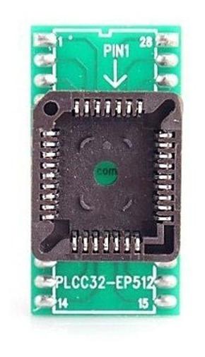 Adaptador Plcc32 Para Dip28 / 27c512 E 27c256 Dentre Outros.