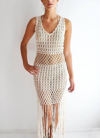 Vestidos Tejidos A Mano, Natyva Crochet.