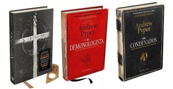 Livro Exorcismo + Demonologista + Os Condenados - Darkside