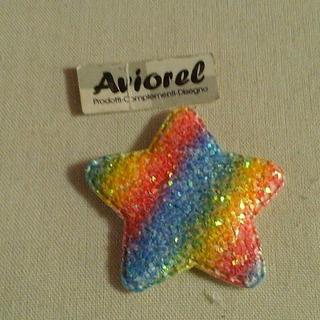 Ack-2954 Aplique Estrella Multicolor Por 100unidades