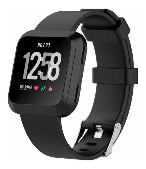 Pulseira Para Fitbit Versa - Tam G - 22cm Preto