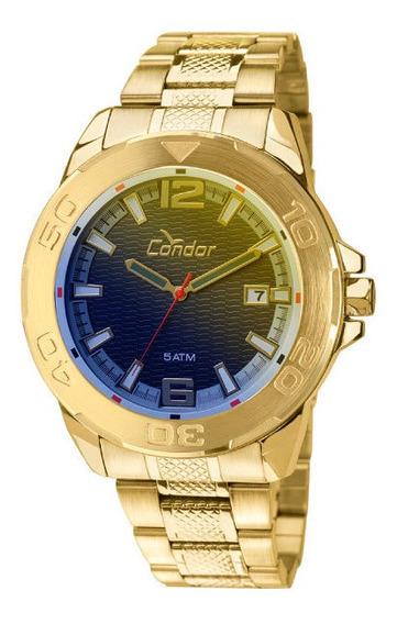Relógio Condor Masculino Dourado Furtacor Co2415ak4a