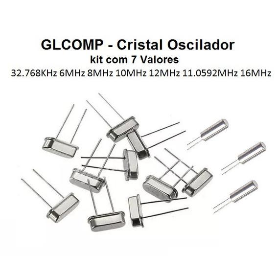 Cristal Oscilador Kit 32.768k 6 8 10 11.0592 12 16mhz Carta