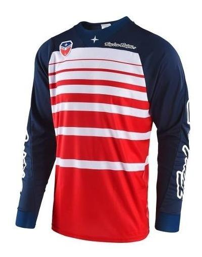 Remera Motocross Troy Lee Se Streamline Rojo/azul