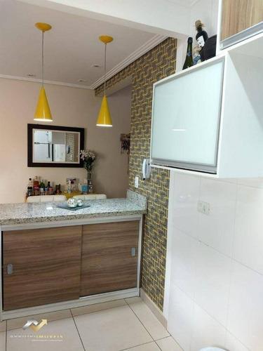 Cobertura Com 2 Dormitórios À Venda, 92 M² Por R$ 430.000,00 - Bangu - Santo André/sp - Co1094