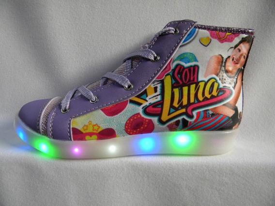 Zapatillas Soy Luna Luces Led Miraculose Lady Bug