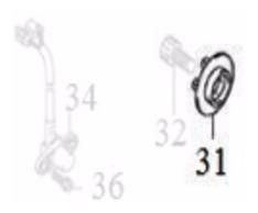 Rotor Do Sensor De Velocidade Riva 150 Original Dafra