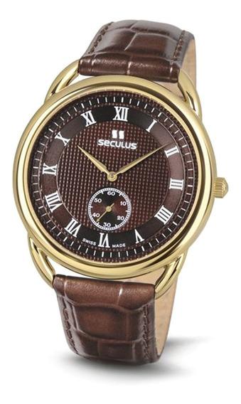 Reloj Seculus 4483.2.1069 Lbr Y Br Para Caballero Correa De Piel