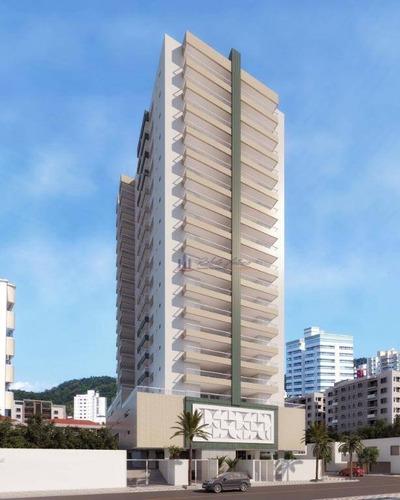 Apartamento Com 3 Dormitórios À Venda, 95 M² Por R$ 519.900,00 - Canto Do Forte - Praia Grande/sp - Ap1124