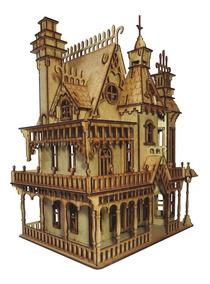 Casa De Bonecas Barbie Polly Princesas Mdf Provençal 248 Peç