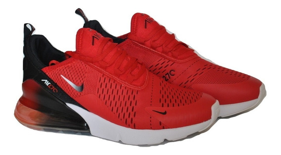 Kp3 Zapatos Caballeros Nike Air Max 270 Rojo Negro Blanco