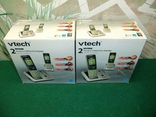 Telefono Inalambrico Rescidencial Vtech Dobles 2 Estaciones
