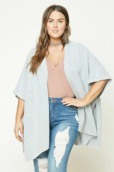 Cardigan Poncho Forever 21 Plus Talle X2 - 6349