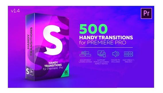 500 Transições Mais 500 Títulos Textos Para Adobe Premiere
