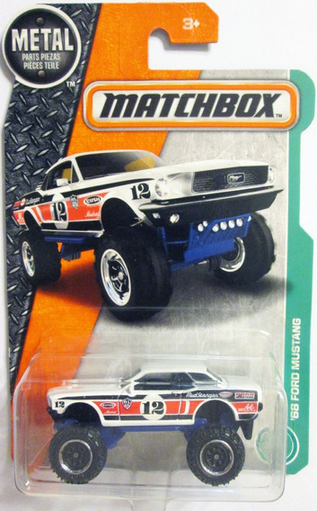 Matchbox `68 Ford Mustang Escala 1/64 Mide 6,5 Cm.