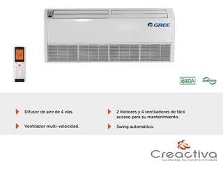 Condensadora Y Evaporadora Piso Techo On Off 12000 Kcal