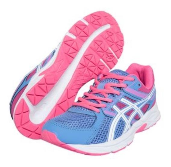 Tênis Asics Gel Comtend 3a Azul Claro/pink Original