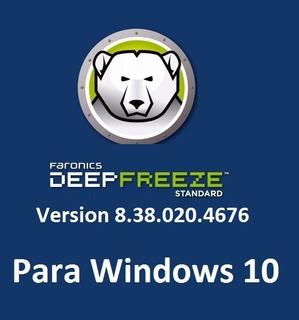 Deep Freeze Ver. 8.38 - Congele Su Pc - Para Windows 10