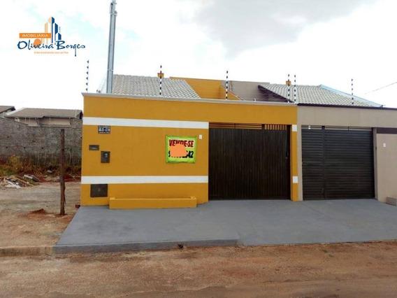 Casa Com 2 Dormitórios À Venda, 40 M² Por R$ 147.000 - Jibran El Hadj - Anápolis/go - Ca1642