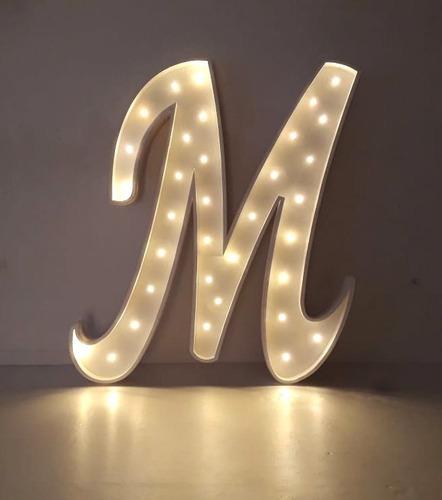 Letra Con Luz Led 25 Cm Polyfan Tunombre Iluminado Letras