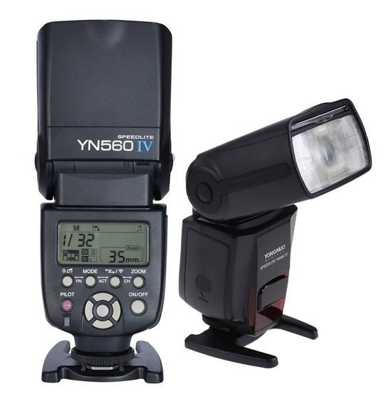 Novo Flash Yongnuo Yn 560 Iv + Difusor Para Canon, Nikon