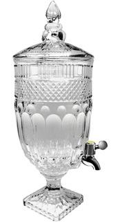 Vitrolero Dispensador De Vidrio Con Base Para Bebidas 4l