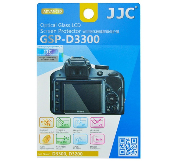 Protetor De Vidro Lcd Câmera Jjc Gspd3300 Nikon D3300