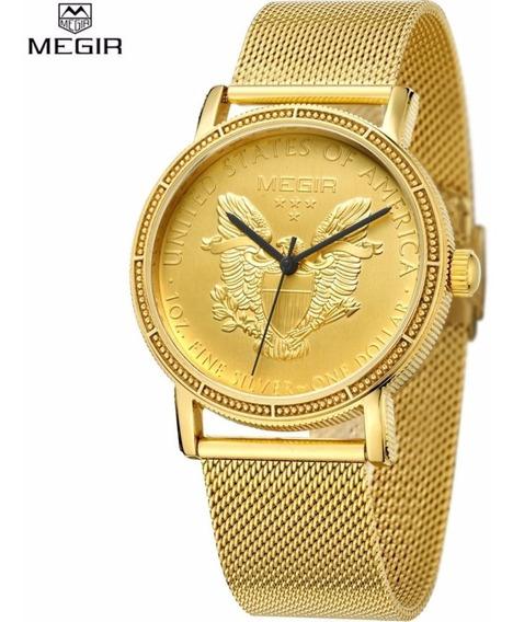 Relógio Raro Da Megir, 100% Original. Megir 2032