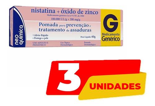 Imagem 1 de 2 de 3 Pomadas Assadura Nistatina+ox.zinco 60g Neoquimica Atacado