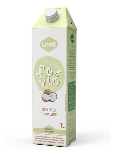 Bebida Vegetal De Coco Original - Leatt (01 Unidade)
