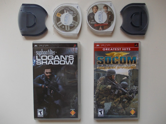 Socom 2 + Syphon Filter + Midnight Club 3 + Filme + Cases