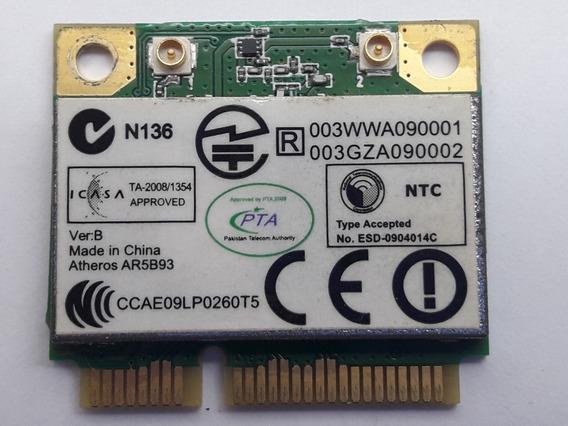 Placa Wireless Wifi Ar5b93 Notebook Gateway Nv53 Original
