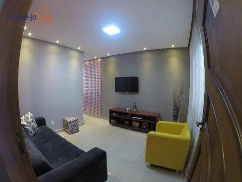 Sobrado Com 3 Dormitórios À Venda, 164 M² Por R$ 520.000,00 - Jardim Satélite - São José Dos Campos/sp - So0987