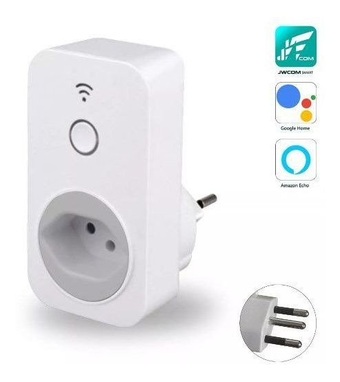 Tomada Inteligente Wifi Jwcom Smart Sa-02 Google Home