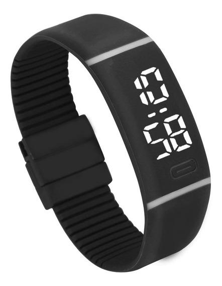 Relógio Digital Led Masculino/feminino Pulseira De Silicone