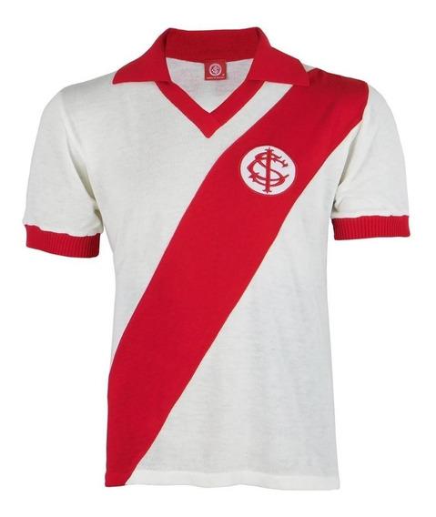 Camisa Inter Masculina Retrô Internacional Gola V Polo Nº 9