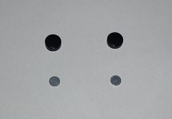 Par Brinco Pressão Magnetic Falso Alargador Imã Frete Gratis