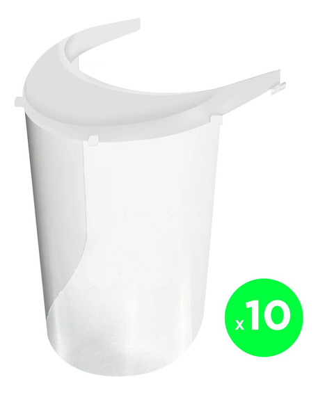 Kit Mascara Facial X10u Protector Virus Barbijo Barrera Pro