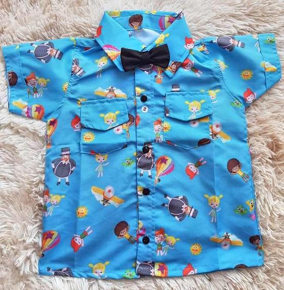 Camisa Temática Mundo Bita Luxo Festa