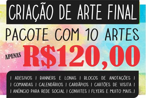 Pacote De 10 Artes - Logotipo, Anúncio Para Rede Social...