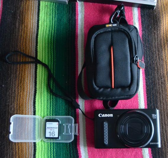 Canon Powershot Sx610 Hs 20,2mp+funda+tarjeta 16gb+cargador
