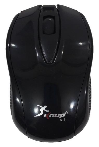 Mouse Optico Sem Fio 1600dpi Knup G12
