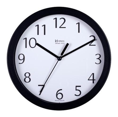 Relógio Silencioso Parede Alumínio 25cm Branco Herweg 6718s