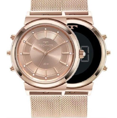 Relógio Technos Curvas Digital-analógico Feminino 9t33ac/4j