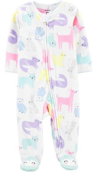 Pijama Enterito Micro Polar Carters Niña Rn A 9 Meses