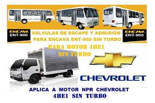 Válvulas Escape Admisión Guia Motor Isuzu 4he1 Npr Chevrolet