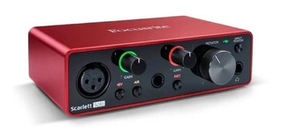 Interface De Audio Usb Focusrite Scarlett Solo 3 Generacion