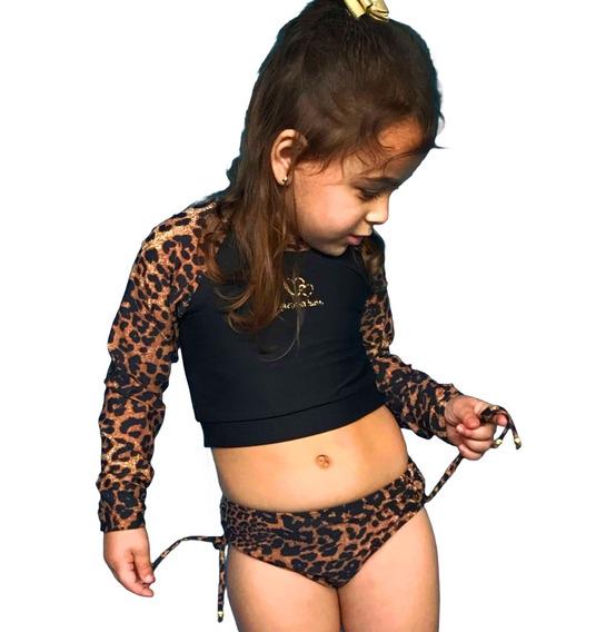 Biquini Infantil Cropped Proteção Solar Uv Grappin