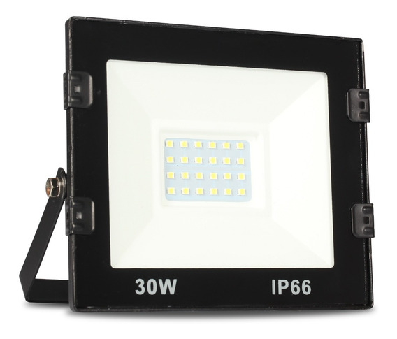 Refletor Led 30 Watts Micro Smd Holofote Bivolt Jardim Nf-e