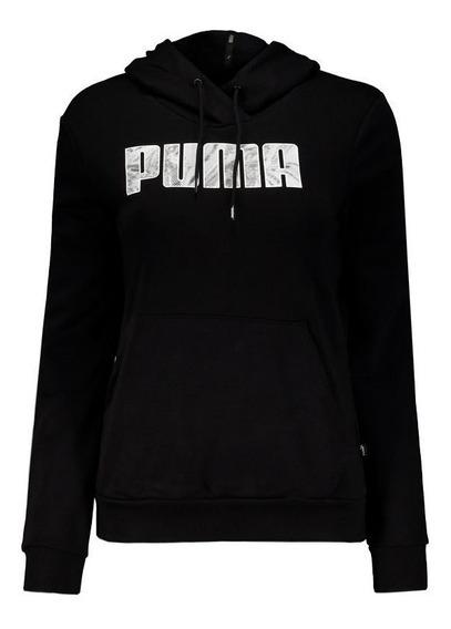 Moletom Puma Graphic Feminino Preto